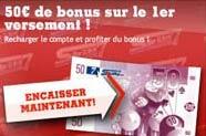 50 euros de bonus